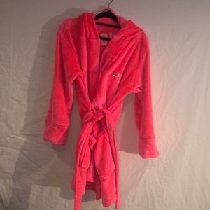 Victorias Secret  Pink Bling Robe with hood